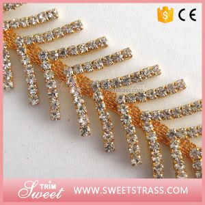 Gorgeous Fashionable Rhinestone Chain Trim in Bulk pictures & photos