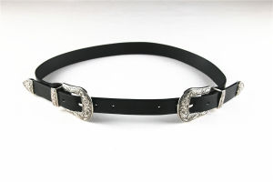 Fashion Women′s PU Belt with Double Buckles pictures & photos