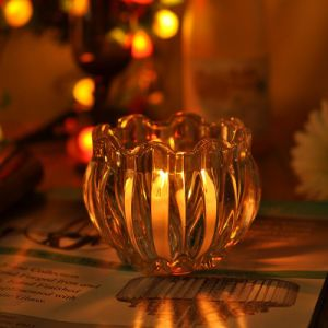 Pumpkin High Clear Glass Candle Holders pictures & photos