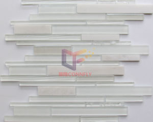 Strip Style Marble Stone with Crystal Mosaic Tiles (CFS678) pictures & photos