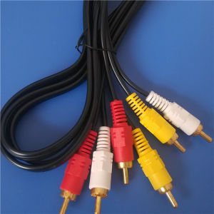 PVC Injection 3RCA to 3RCA a/V Cable (ca-017) pictures & photos