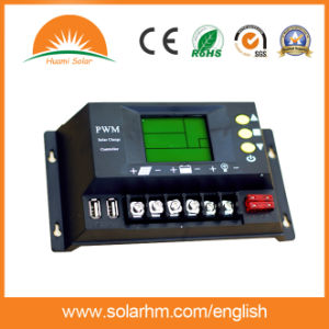 (HM-30A) China Best Price 12V/24V30A LCD Display Solar Charge Controller pictures & photos