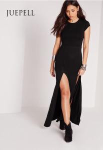 Split Front T Shirt Maxi Dress pictures & photos