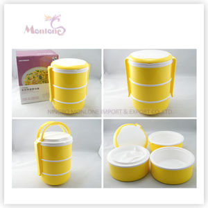 Food Grade Plastic 3 Layer Thermal Lunch Box pictures & photos