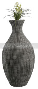 Mtc-215 PE Rattan Furniture Wicker Outdoor Flower Vase pictures & photos