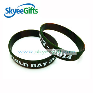 Debossed Filled Silicone Wristband for Sport pictures & photos