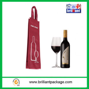Promotion Non Woven Wine Bottle Carrier Bag with Handle Bag pictures & photos