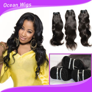 100 Human Hair Unprocessed Brazilian Natural Wave Hair Weft (W-108) pictures & photos