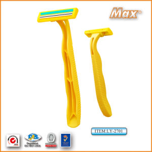 Classic Twin Stainless Steel Blade Disposable Shaving Razor (LY-2701) pictures & photos