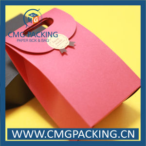 Red Kraft Paper Bag for Small Cake (DM-GPBB-214) pictures & photos