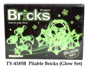 Pliable Bricks Toy Glow Set pictures & photos