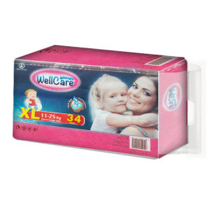 Disposable Diaper with Huge Water-Locked (XL) pictures & photos