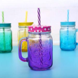 Full Spraying and Half Spraying Glass Mason Jar Drinking Bottle pictures & photos
