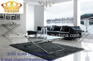 Coffee Table with Tempered Glass Top pictures & photos