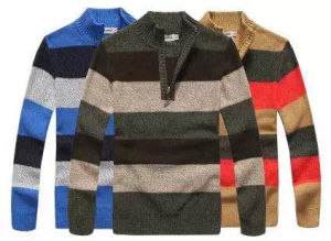 Men′s Knitted Sweater Cardigan (0167) pictures & photos