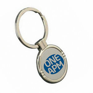 Round Color Logo Zinc Alloy Key Chain for Promotion (F1132) pictures & photos