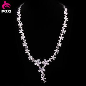 Hot Fashion Flower Design Zircon Women Necklace pictures & photos
