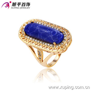 Xuping Women Luxury 18k Gold-Plated Imitation Jewelry Ring in Copper Alloy -13124 pictures & photos