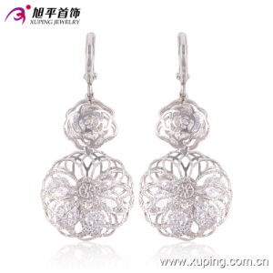 Fashion Elegant Rhodium -Plated Round Crystal Zircon Jewelry Earring Eardrop -90445 pictures & photos