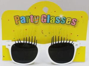 Novelty Sunglasses with Eyelash White