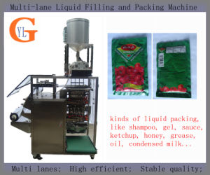 Pizzahut Ketchup Packaging Machine (4 sides sealing; PLC control; DXD-680Y) pictures & photos