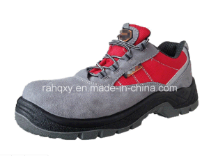 Suede Leather & Oxford Fabric Safety Shoes with Mesh Lining (HQ05020) pictures & photos