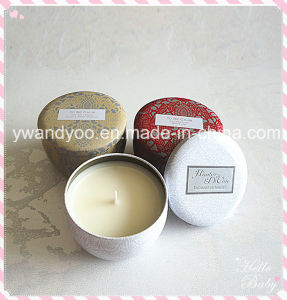 Decorative Scented Soy Travel Tin Candle with Lid