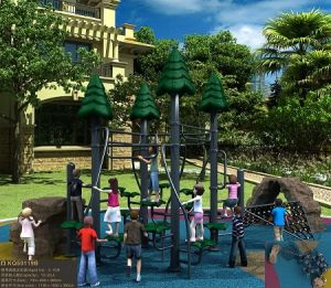 Kaiqi Forest Themed Children′s Climbing Playground Equipment Set (KQ50119B) pictures & photos