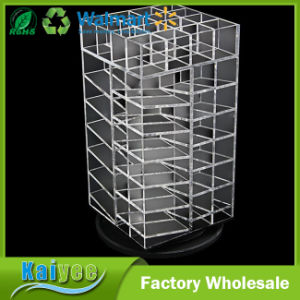 Premium Acrylic Rotating Cosmetic 64 Lipsticks Tower Organizer pictures & photos