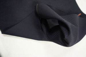 Dark Blue Tweed Worsted Wool Fabric pictures & photos
