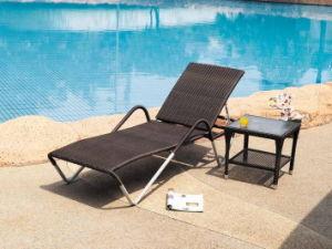 Outdoor Pool Garden Stacking Sunbeds/Sun Bed /Aluminium Sun Lounger pictures & photos