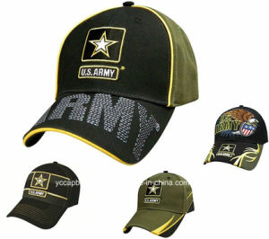 Fashion Cool Military Mens Embroidery Indian Army Cap pictures & photos