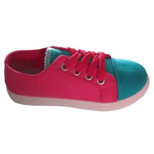Girl′s Classic Canvas Lace-up Casual Sneakers (Toddler/Little Kid/Big Kid) pictures & photos