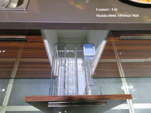 Pure White High Glossy Kitchen Cabinet (ZH096) pictures & photos