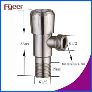 Fyeer High Quality 304 Stainless Steel Brushed Cheap Angle Vlave pictures & photos