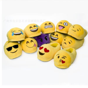 2016 New Arrivals Products Soft Plush Emoji Indoor Slippers pictures & photos