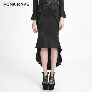 Q-276 Uniform Style Punk Fishtail Skirt pictures & photos