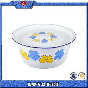 Various Decal Enamel Hand Washing Bowl with Enamel Cover pictures & photos
