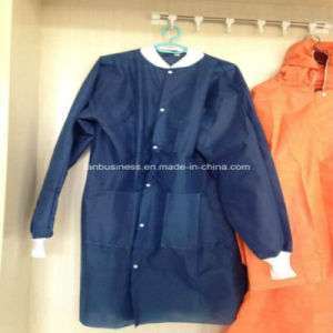 Ly SMS Lab Coat with Cotton Knitted and Collar pictures & photos
