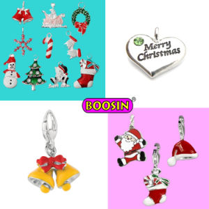 Colorful Enamel Christmas Charms Pendants, Alloy Enamel Bracelet Charms Wholesale pictures & photos