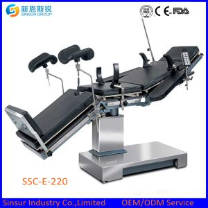 Radiolucent Hospital OT Use Electric China Operating Table pictures & photos
