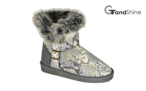 Women′s New Arrival Collar Fur Snow Boots pictures & photos