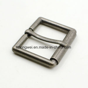 Custom Rectangle Roller Pin Belt Buckle for Strap pictures & photos