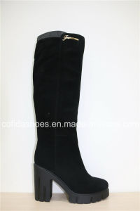 New Casual Winter Warm Leather Ladies Boots pictures & photos