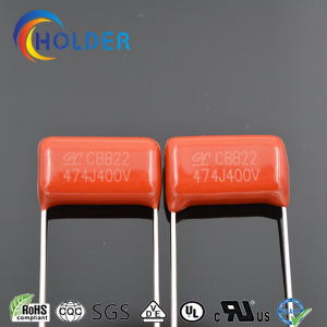 Metallized Ploypropylene Film Capacitor (CBB22) as Dielectric and Electode, with Copper-Clad Steel Leads and Expoxy Resin Coating pictures & photos