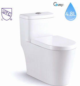 ceramic One Piece Toilet with Water Mark (CVT831)