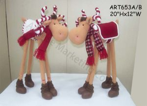Fleece Standing Candy Moose Home Decoration-2 Asst pictures & photos