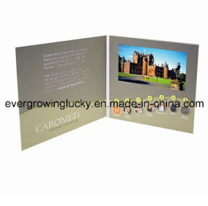 Promotional Vido Card/LCD Video Player Brochure/Invitation LCD Video Greeting Card pictures & photos