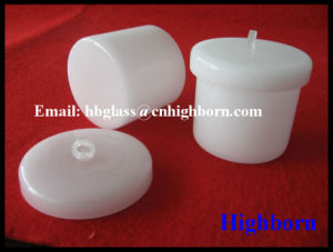High Purity Milky White Fused Silica Quartz Glass Crucible pictures & photos