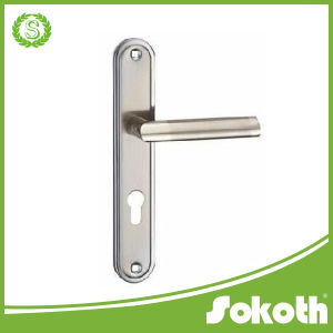 Indonesia Market High Quality Door Handle on The Plate pictures & photos